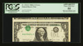 Error Notes:Inverted Third Printings, Fr. 1915-G $1 1988A Federal Reserve Note. PCGS Apparent ChoiceAbout New 55.. ...