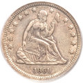 Seated Quarters, 1861-S 25C XF40 PCGS....