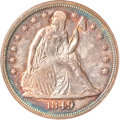 Seated Dollars, 1849 $1 MS61 NGC. CAC....