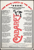 """Movie Posters:Musical, Cabaret (Allied Artists, 1972). Poster (40"""" X 60"""") Review Style. Musical.. ..."""