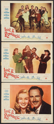 """Isn't It Romantic (Paramount, 1948). Lobby Cards (3) (11"""" X 14""""). Comedy. ... (Total: 3 Items)"""