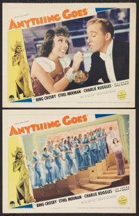 """Anything Goes (Paramount, 1936). Lobby Cards (2) (11"""" X 14""""). Musical. ... (Total: 2 Items)"""