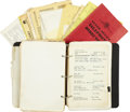 Music Memorabilia:Autographs and Signed Items, Elvis Presley's Personal Address/Phone Book....