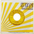 """Music Memorabilia:Recordings, """"Baby Let's Play House""""/""""I'm Left, You're Right, She's Gone"""" Rare Sun 45 (Sun 217, 1955)...."""
