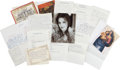 Music Memorabilia:Autographs and Signed Items, Priscilla Presley Signed Photo and Correspondence.... (Total: 16Items)
