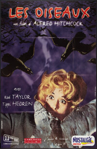 "The Birds (Carlotta Films, R-1999). French Grande (45"" X 61.5""). Hitchcock"
