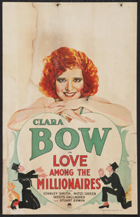 "Love Among the Millionaires (Paramount, 1930). Window Card (14"" X 22""). Comedy"