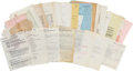 Music Memorabilia:Documents, USS Arizona Memorial Fund/Elvis Concert Document Archive Group.... (Total: 84 Items)