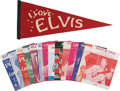 Music Memorabilia:Memorabilia, Elvis Presley Vintage Pennant and Sheet Music.... (Total: 15 Items)