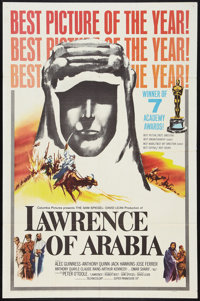"""Lawrence of Arabia (Columbia, 1963). One Sheet (27"""" X 41"""") Academy Awards Style D. War"""