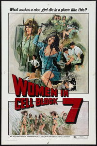 "Women in Cell Block 7 (Aquarius Releasing, 1974). One Sheet (27"" X 41""). Crime"