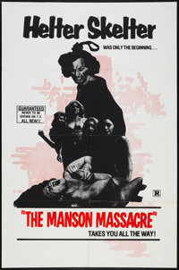 "The Manson Massacre (Hallmark, 1976). One Sheet (27"" X 41""). Exploitation"