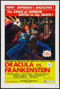 "Movie Posters:Horror, Dracula vs Frankenstein (Independent International Pictures, 1971). One Sheet (27"" X 41""). Horror.. ..."