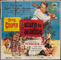 "Return to Paradise (United Artists, 1953). Six Sheet (81"" X 81""). Drama"
