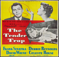 "The Tender Trap (MGM, 1955). Six Sheet (81"" X 81""). Comedy"