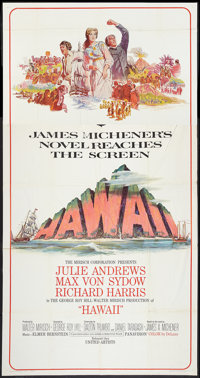 "Hawaii (United Artists, 1966). Three Sheet (41"" X 81""). Drama"