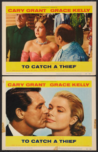 """To Catch a Thief (Paramount, 1955). Lobby Cards (2) (11"""" X 14""""). Hitchcock. ... (Total: 2 Items)"""