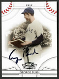 Non-Sport Cards:Singles (Post-1950), 2008 Donruss Threads George H.W. Bush Signed Card....