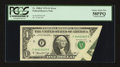 Error Notes:Foldovers, Fr. 1908-F $1 1974 Federal Reserve Note. PCGS Choice About New 58PPQ.. ...