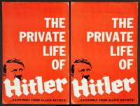 """Hitler (Allied Artists, 1962). Pressbooks (2) (Multiple Pages, 12"""" X 18""""). Historical Drama. ... (Total: 2 Ite..."""