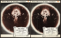 """Every Day's a Holiday (Paramount, 1937). British Pressbooks (2) (Multiple Pages, 9.5"""" X 11.5""""). Comedy. ... (T..."""