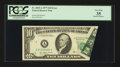 Error Notes:Foldovers, Fr. 2023-A $10 1977 Federal Reserve Note. PCGS Very Fine 35.. ...