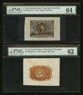 Fractional Currency:Second Issue, Fr. 1232SP 5¢ Second Issue Wide Margin Pair PMG Choice Uncirculated 64 & Uncirculated 62.. ... (Total: 2 notes)