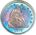 Proof Seated Quarters, 1875 25C PR66 ★ NGC....