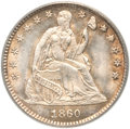 Seated Half Dimes, 1860 H10C Transitional MS65 PCGS. Judd-267, Pollock-315, R.4....
