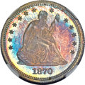 Proof Seated Quarters, 1870 25C PR66+ Cameo NGC....
