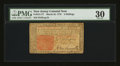 Colonial Notes:New Jersey, John Hart Signed New Jersey March 25, 1776 3s PMG Very Fine 30.....