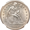 Seated Dollars, 1859-O $1 MS62 NGC....