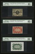 Fractional Currency:Third Issue, Fr. 1236/8SP 5¢ Third Issue Set of Three.. ... (Total: 3 notes)