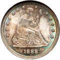 Seated Quarters, 1888 25C MS67 NGC. CAC....