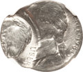 Errors, 1984-P 5C Jefferson Nickel--Double Struck on a Clad Dime Blank--MS64 NGC....
