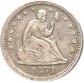 Seated Quarters, 1858-S 25C VF30 PCGS....