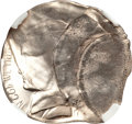 Errors, Undated Jefferson Nickel--Multiple Struck with Multiple Obverse Indents--MS66 NGC....