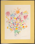 Movie/TV Memorabilia:Original Art, Bouquet of Flowers by Ardelle Osborne (American, 20thCentury)....