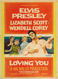 Music Memorabilia:Posters, Loving You Full Sheet Movie Poster....