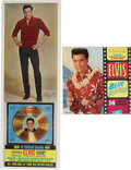 Music Memorabilia:Posters, Elvis' Golden Records Volume 3 and Blue Hawaii PromoDisplays.... (Total: 2 Items)