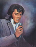 Music Memorabilia:Original Art, Elvis Presley Portrait Prints with Receipt.... (Total: 3 )