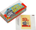 Music Memorabilia:Memorabilia, Elvis Presley Trading Cards Box and Wrapper....