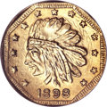 California Gold Charms, 1898-Dated MS California Gold Dollar Token MS67 NGC. Hart's Coins of the Golden West....