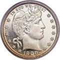 Proof Barber Quarters, 1900 25C PR66 Cameo PCGS....