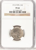 Proof Buffalo Nickels, 1913 5C Type Two PR64 NGC....