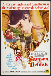 """Samson and Delilah Lot (Paramount, R-1968). Posters (2) (40"""" X 60""""). Adventure. ... (Total: 2 Items)"""