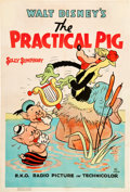 "Movie Posters:Animated, The Practical Pig (RKO, 1939) One Sheet (27"" X 41"").. ..."