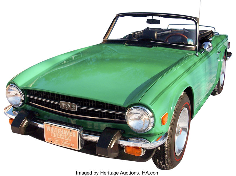 Elvis Presley Gifted 1976 Triumph TR-6 Convertible to Ginger
