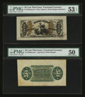 Fractional Currency:Third Issue, Fr. 1355/58SP 50¢ Third Issue Wide Margin Pair PMG About Uncirculated 53 EPQ & About Uncirculated 50.. ... (Total: 2 notes)