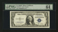 Small Size:Silver Certificates, Fr. 1613N $1 1935D Silver Certificate. Serial Number Five. PMG Choice Uncirculated 64 EPQ.. ...
